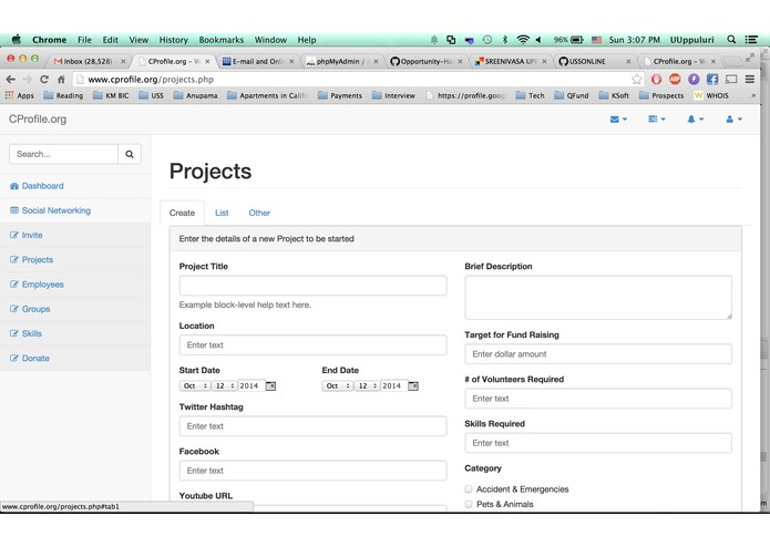 CProfile.org – screenshot 1