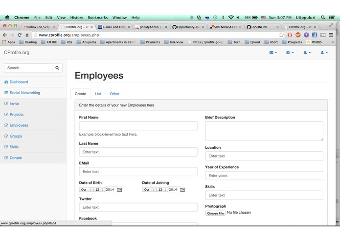 CProfile.org – screenshot 2
