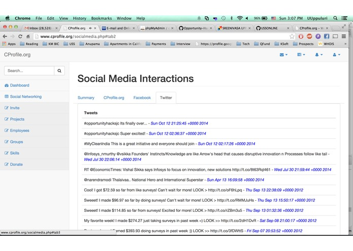 CProfile.org – screenshot 6