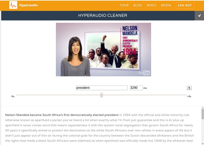 Hyperaudio for Remixable Storytelling – screenshot 4