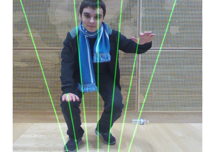 Augmented Reality Laser Harp for Kinect – screenshot 1