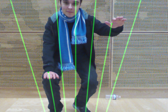 Augmented Reality Laser Harp for Kinect