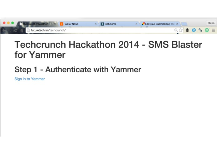 Yammer SMS Blaster – screenshot 3