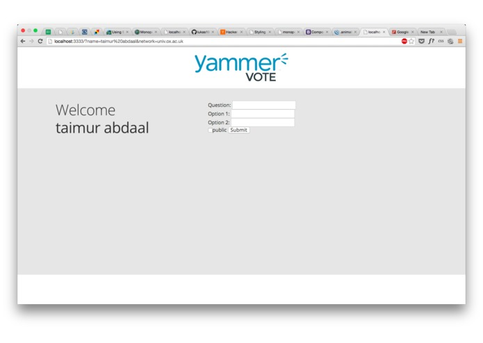 Yammer-Vote – screenshot 1
