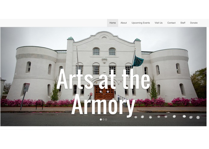 Arts at the Armory redesgin – screenshot 1