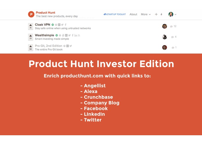 Product Hunt Investor Edition – screenshot 1
