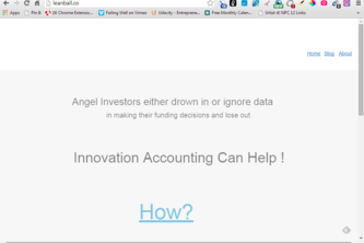 LeanBall 1Pager - Innovation Accounting for Angels
