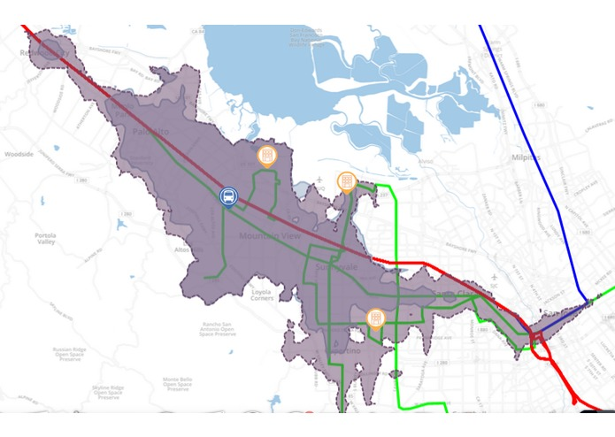 TransitShed Visualization for El Camino Real BRT – screenshot 1