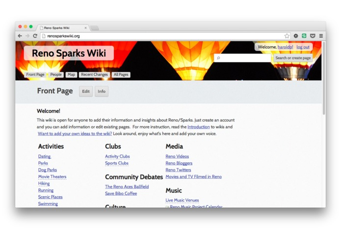 RenoSparksWiki – screenshot 1