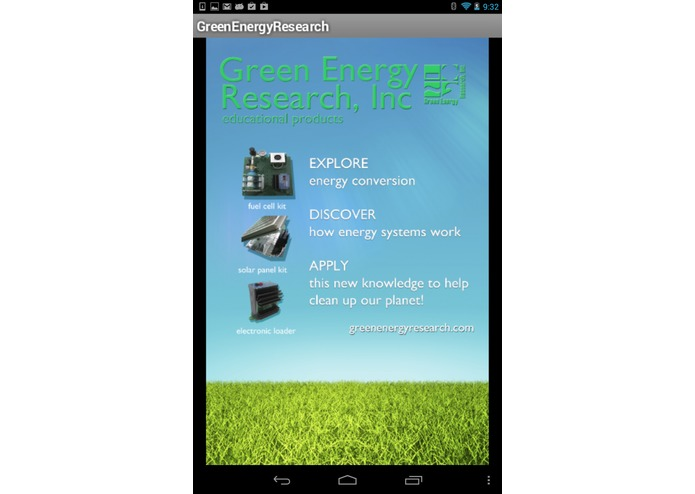 GreenEnergy Research Mobile app – screenshot 2