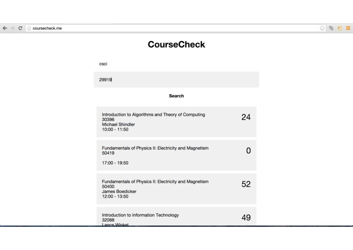 CourseCheck – screenshot 3