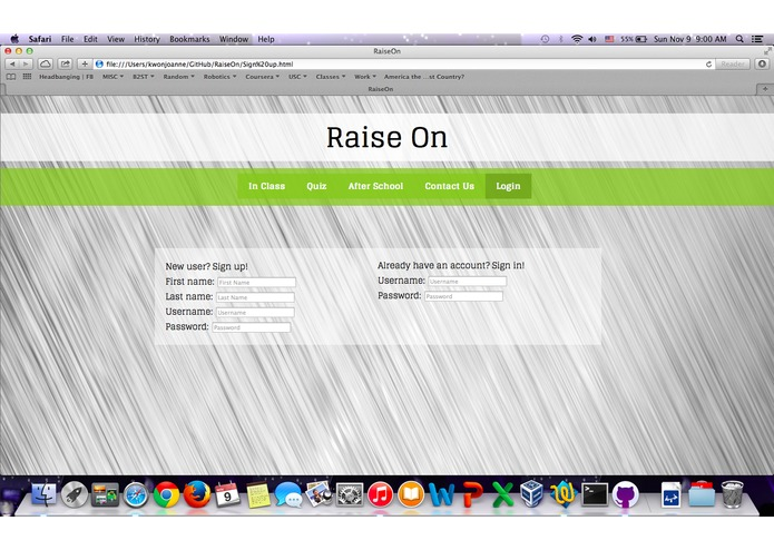 RaiseOn – screenshot 1