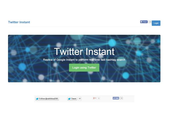 Twitter Instant – screenshot 1