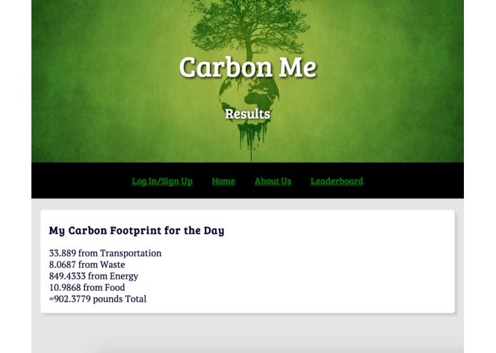 CarbonMe – screenshot 1
