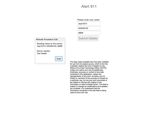 Alert911 – screenshot 1