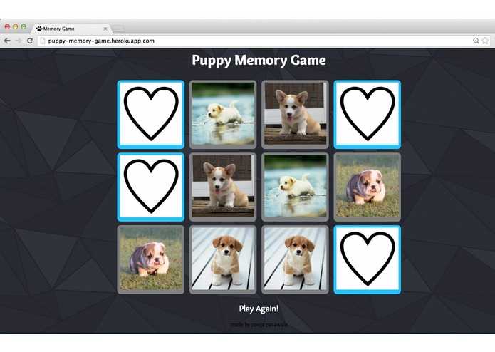 Puppy Memory Game – screenshot 1