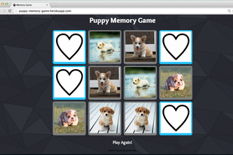 Puppy Memory Game