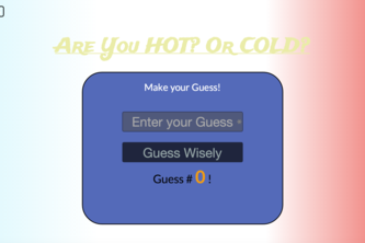 Hot and Cold Game Refactor