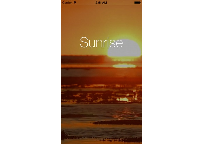 Sunrise – screenshot 1