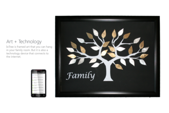 IoTree: Framed Art + IoT = More Connecting with your Ancestors