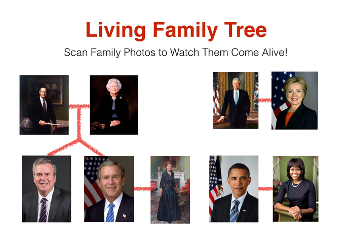 A Living Tree : An Augmented Reality Family Tree by ScanED.NET – screenshot 1