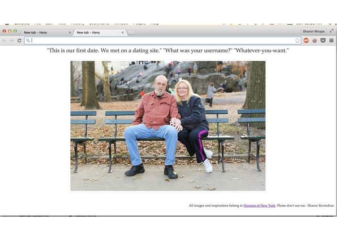 HONY - Chrome extension – screenshot 2
