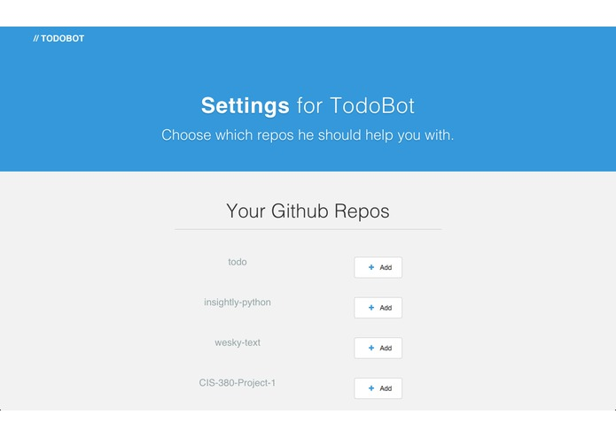 TodoBot – screenshot 1