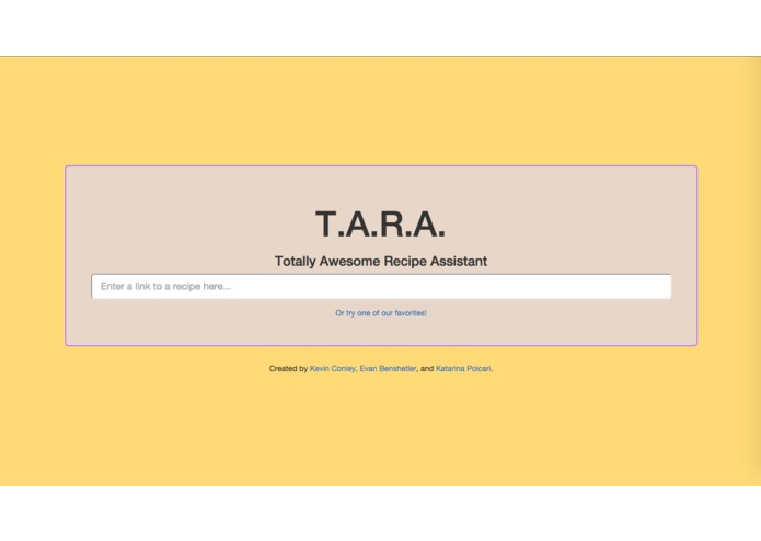 TARA: Totally Awesome Recipe Assistant – screenshot 1