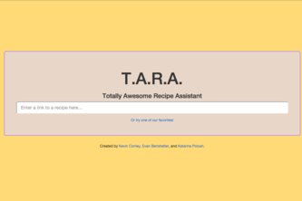 TARA: Totally Awesome Recipe Assistant