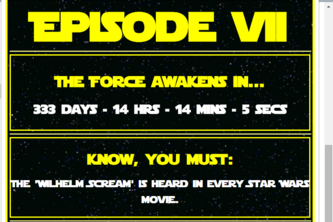 Star Wars VII Countdown!