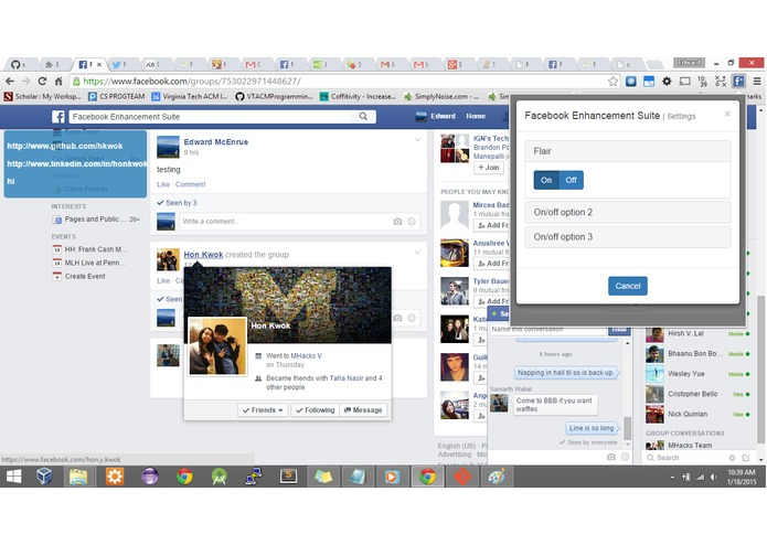 HH Facebook Enhancement Suite – screenshot 4