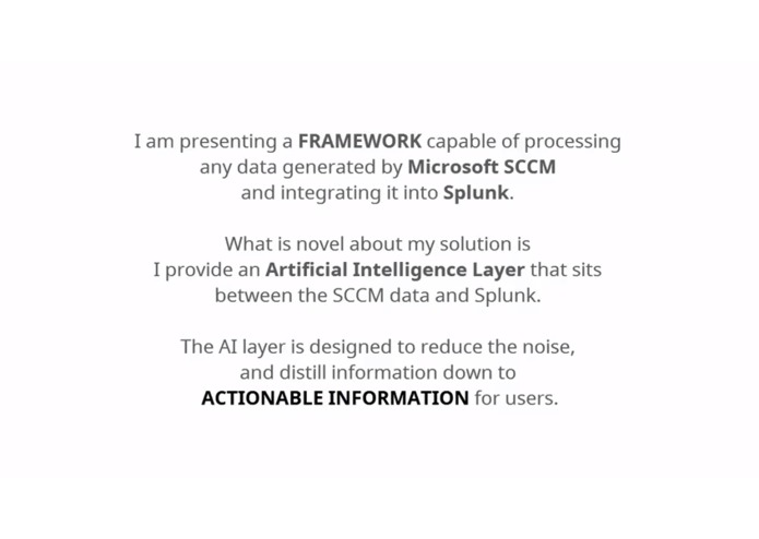 Splunk's Clairvoyant Artificially-Intelligent Hive Intelligence Connecting Microsoft SCCM – screenshot 1