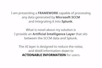 Splunk's Clairvoyant Artificially-Intelligent Hive Intelligence Connecting Microsoft SCCM