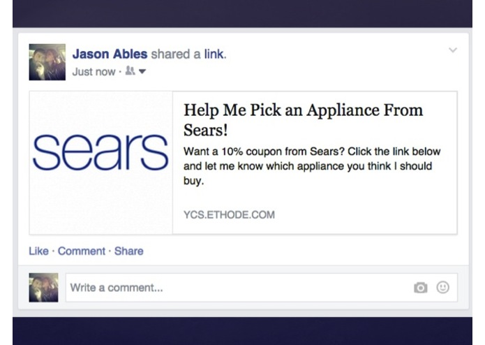 Sears Social Shopping – screenshot 7