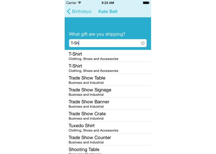 GoGift iOS – screenshot 4