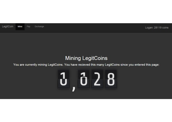 LegitCoin – screenshot 1