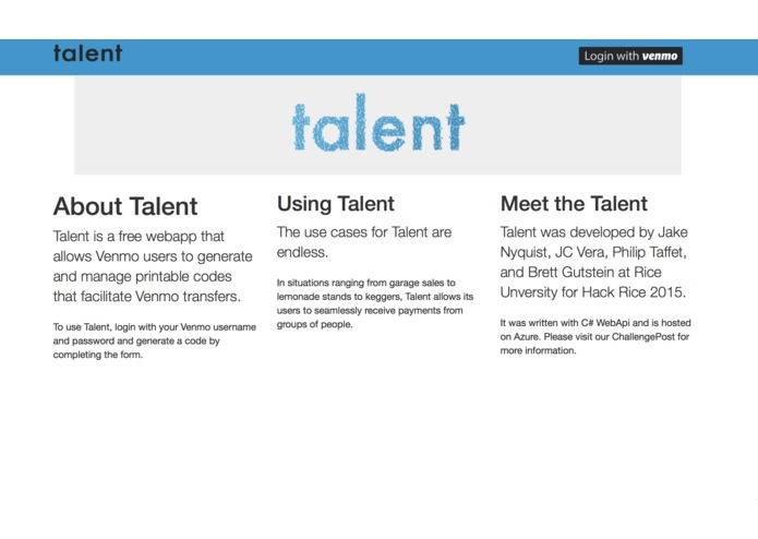 Talent – screenshot 1