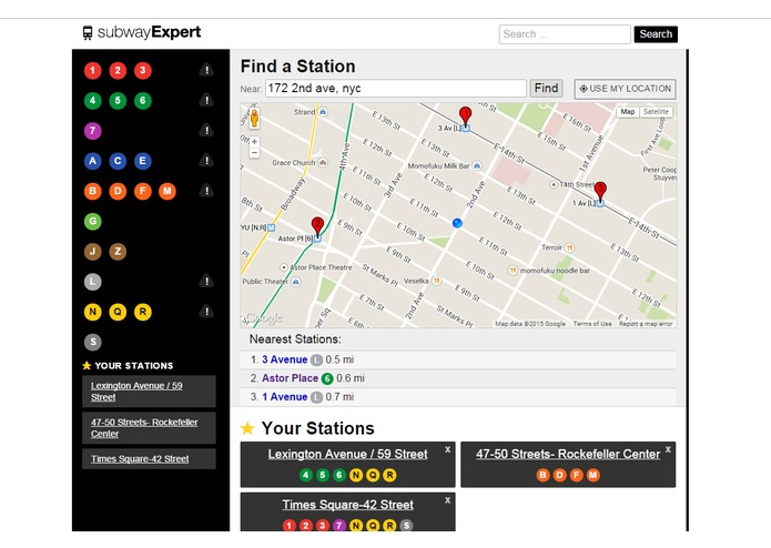subwayExpert.com – screenshot 1