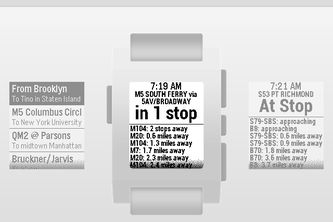 My MTA Bus for the Pebble Watch