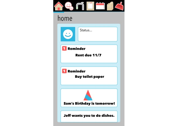 Roommates Android App – screenshot 1
