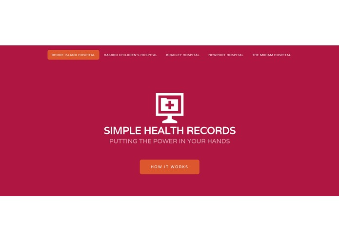Simple Health Records – screenshot 1