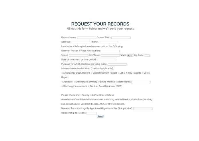 Simple Health Records – screenshot 2