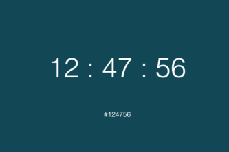 Dynamic Clock and Audio