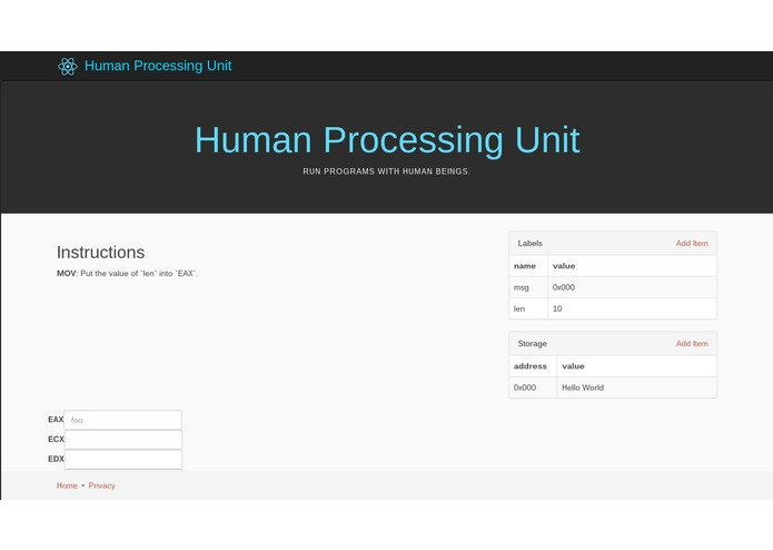 HPU - The Human Processing Unit – screenshot 1