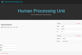 HPU - The Human Processing Unit