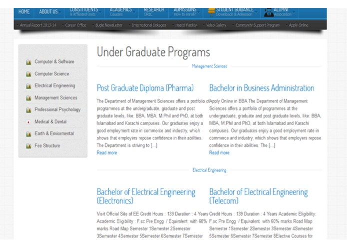 Bahria University Official Portal – screenshot 2