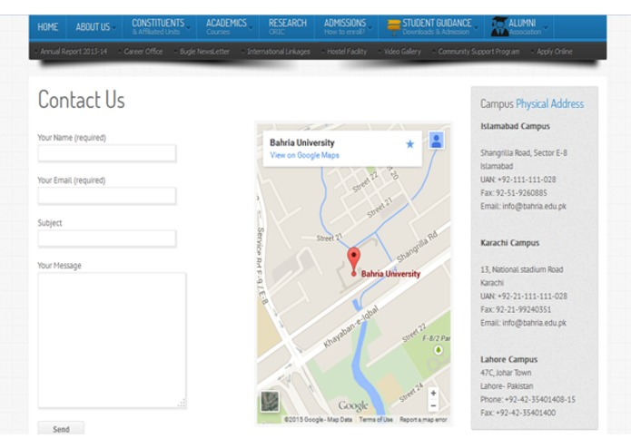Bahria University Official Portal – screenshot 4