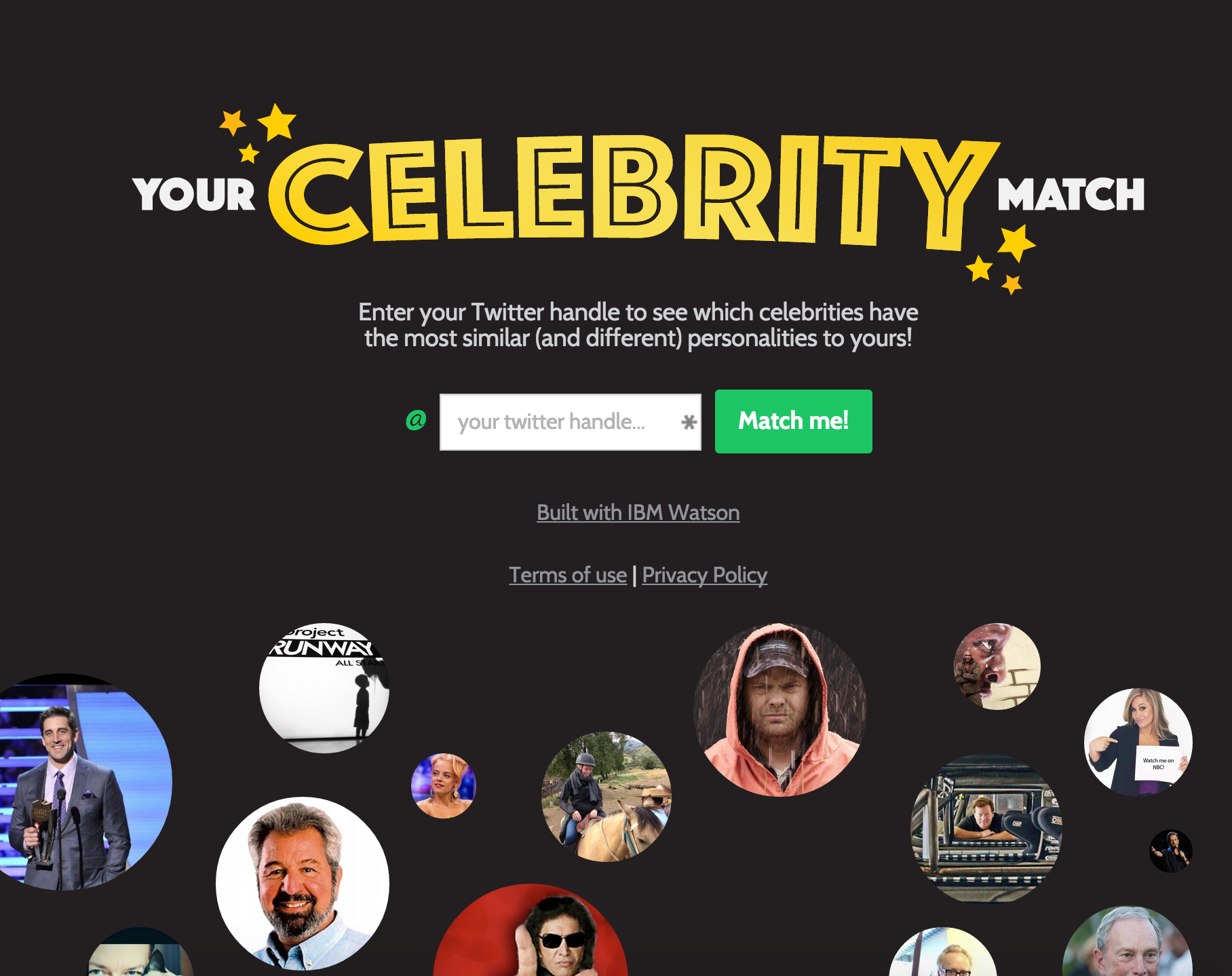 Your who celebrity match is Who's Your