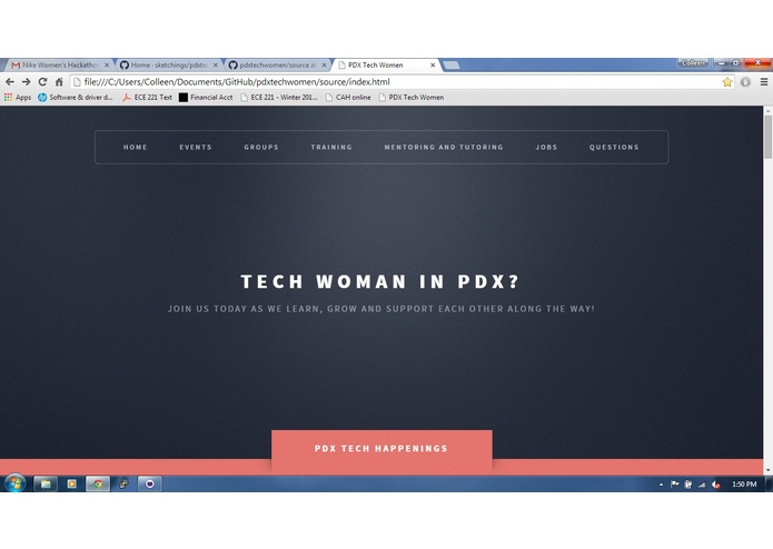 PDX Tech Women – screenshot 2