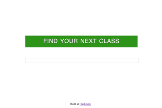 Find Your Next Class